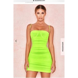 Neon green Ella dress